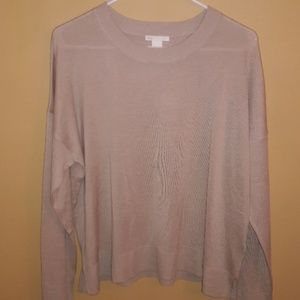 H&M Gently Used Thin Sweater in TAN